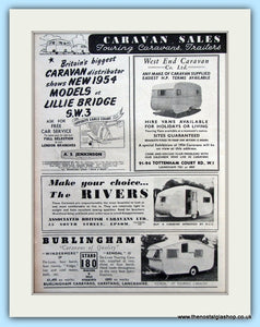 Caravan Sales Distributors Original Advert 1953 (ref AD6367)