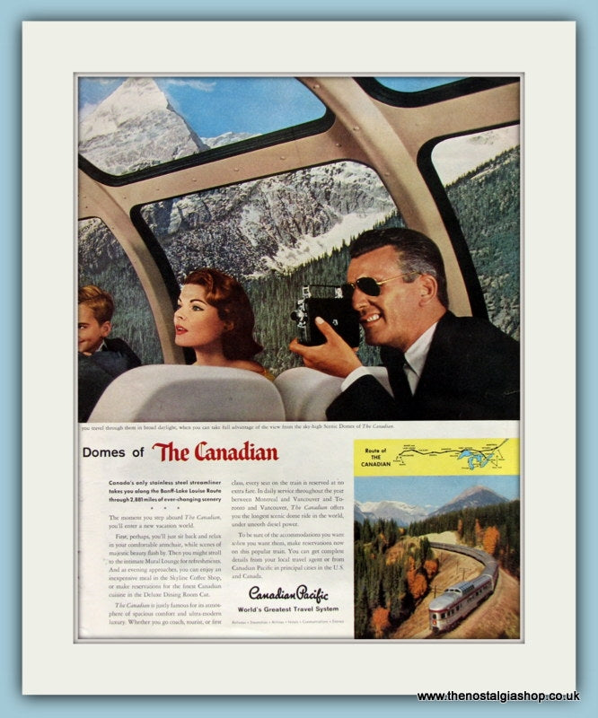 The Canadian Streamliner Double Original Advert 1957 (ref AD8238)
