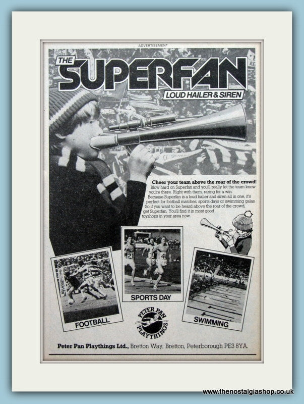Superfan Loud Hailer & Siren. Original Advert  1979 (ref AD2633)