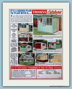 Thorns Workshops,Garages,Greenhouses Original Advert 1962 (ref AD4691)