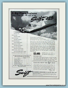 Swift 125 Original Advert 1948 (ref AD4228)