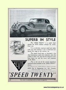Alvis Speed Twenty 1936 Original Advert (ref AD6617)
