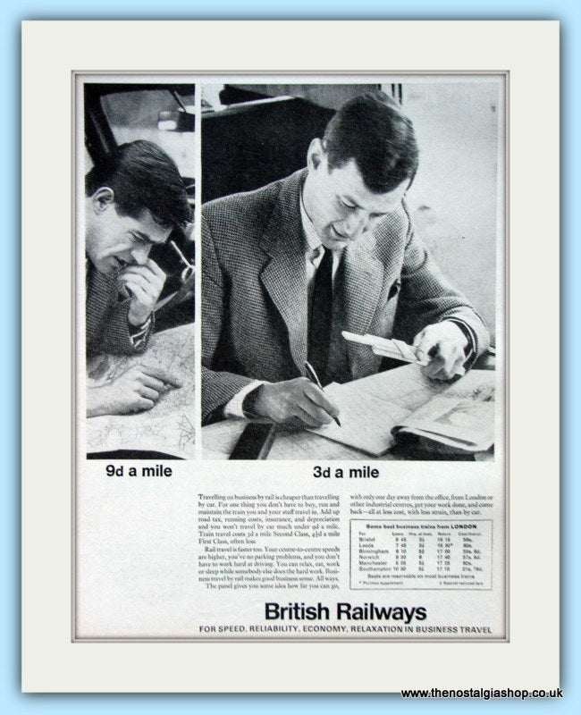 British Rail Original Advert 1964 (ref AD6528)