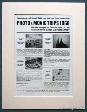 Photo & Movie Trips 1968 Original Advert (ref AD1082)
