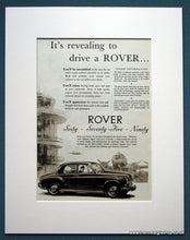 Load image into Gallery viewer, Rover Set Of 2 Original Adverts 1955 (ref AD1109)