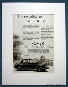 Rover Set Of 2 Original Adverts 1955 (ref AD1109)