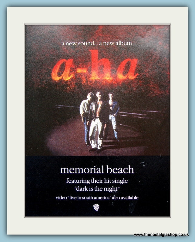 a-ha Memorial Beach 1993 Original Advert (ref AD3089)