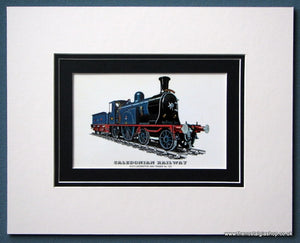 Caledonian Railway Mounted Print (ref SP68)