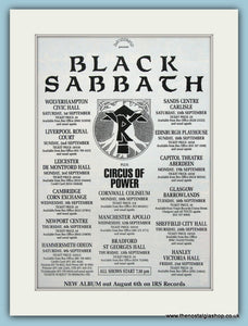 Black Sabbath Tour Dates Original music Advert 1990 (ref AD3400)