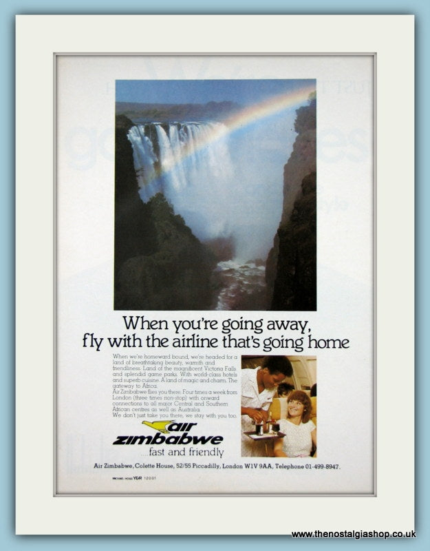Air Zimbabwe 1970's Original Advert (ref AD2116)