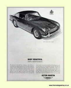 Aston Martin DB 4 Original Advert 1963 (ref AD6726)