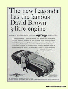 Lagonda Aston Martin DB3S Original Advert 1954 (ref AD6693)