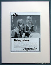 Load image into Gallery viewer, Agfacolor 1963 Original Adverts Set Of 2 (ref AD1076)