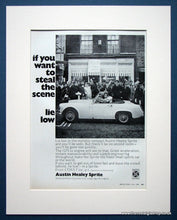 Load image into Gallery viewer, Austin Healey Sprite. Set of 2 Original adverts 1968 (ref AD1389)