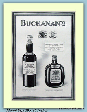 Buchanans Whisky Original Advert 1927 (ref AD9221)