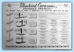 Bluebird Caravans Original Advert 1952 (ref AD6368)