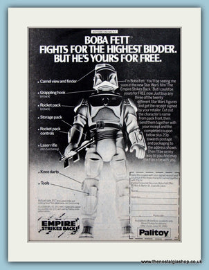 Empire Strikes Back Star Wars Boba Fett Original Advert 1980 (AD6447)
