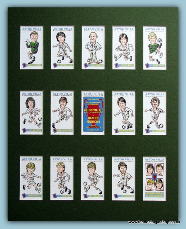 Aston Villa European Champions 1981/82 Football Card Set