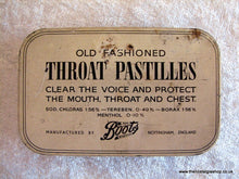Load image into Gallery viewer, Boots Throat Pastilles. Vintage Tin (ref nos033)