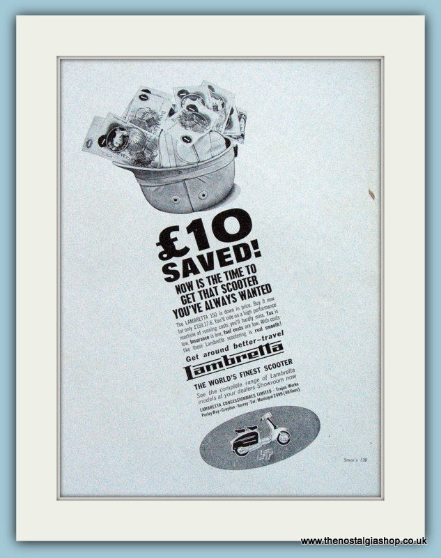Lambretta for GBP159.00 !! Save now! 1963 Original Advert (ref AD4097)