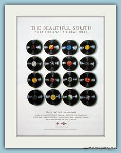 The Beautiful South Solid Bronze Great Hits Original Music Advert 2001 (ref AD3432)