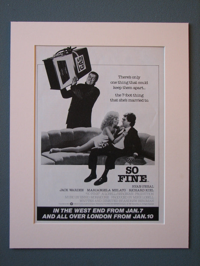 So Fine Original Advert (ref AD477)