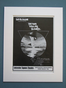 The Man Who Fell To Earth 1976 Original advert (ref AD705)