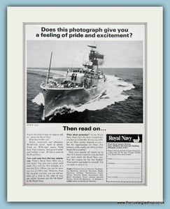 Royal Navy Pride. Set of 2 Original Adverts 1960's (ref AD6070)