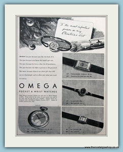 Omega Watches. Original Advert 1938 (ref AD6126)
