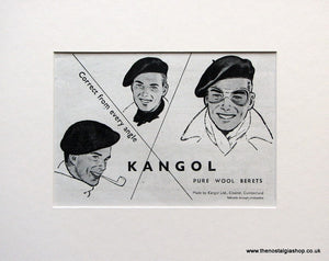 Kangol Wool Berets 1952 Original Advert (ref AD1585)