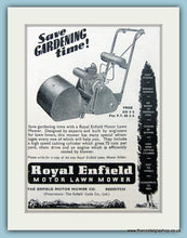 Load image into Gallery viewer, Royal Enfield Lawnmowers. Set of 4 Original Adverts 1950s (ref AD4620)