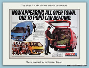 Bedford Midi Vans. Large Original Advert 1986 (ref AD2987)