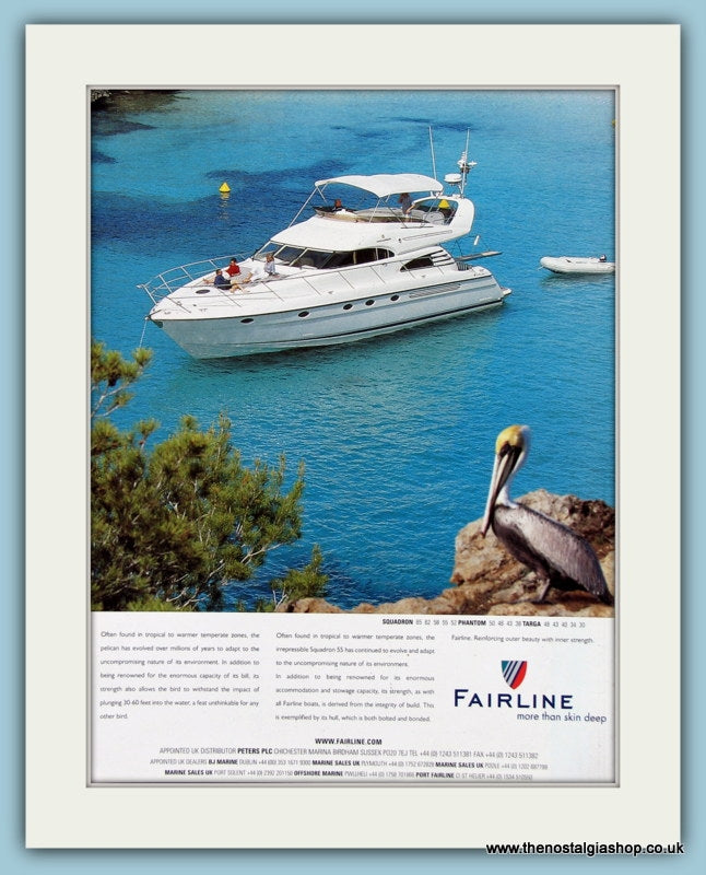 Fairline Boat Original Advert 2001 (ref AD2322)
