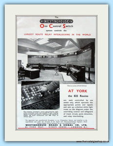 The Westinghouse Control System at York. Original Advert 1951 (ref AD6171)