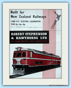 1,800 H.P.Electric Locomotive Robert Stephenson & Hawthorns Ltd Original Advert 1955 (ref AD6488)