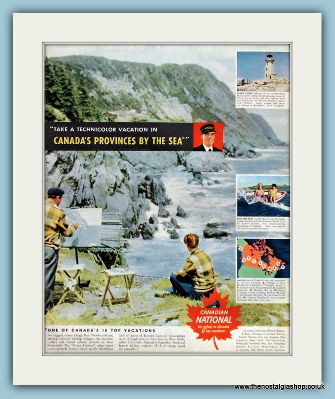Canada Vacation Original Advert 1950 (ref AD8262)