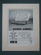 Load image into Gallery viewer, Olympic Airways & Shipping 1961 Original adverts  x2 (ref AD675)