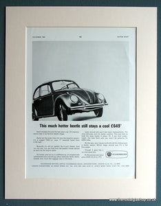 Volkswagen Beetle 1965 Original Advert (ref AD1744)