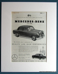 Mercedes-Benz 220a 1954 Original Advert (ref AD1707)