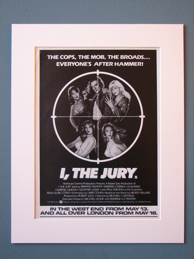 I,The Jury Original Advert (ref AD479)