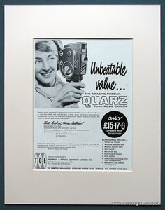 Russian Quarz 8mm Movie Camera 1963 Original Advert (ref AD1064)