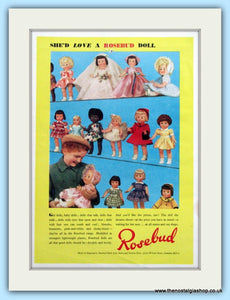 Rosebud Dolls Original Advert 1955 (ref AD4777)