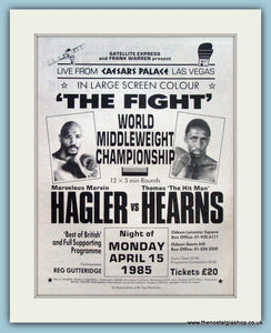 Hagler v Hearns Superfight 1985 Original Advert (ref AD4388)