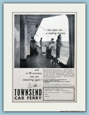 Townsend Car Ferry Original Advert 1964 (ref AD2318)