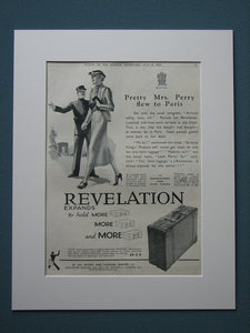 Revelation Suitcases 1936 Original advert (ref AD839)