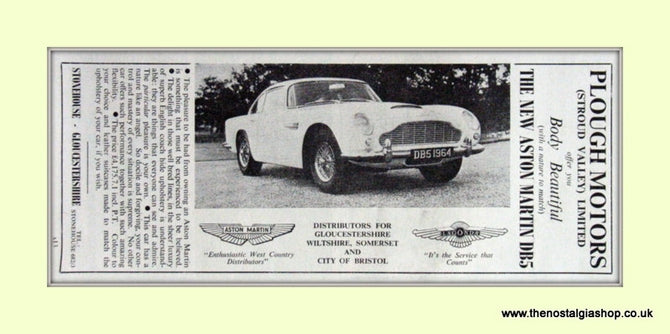Aston Martin DB5 Original Advert 1963 (ref AD6718)