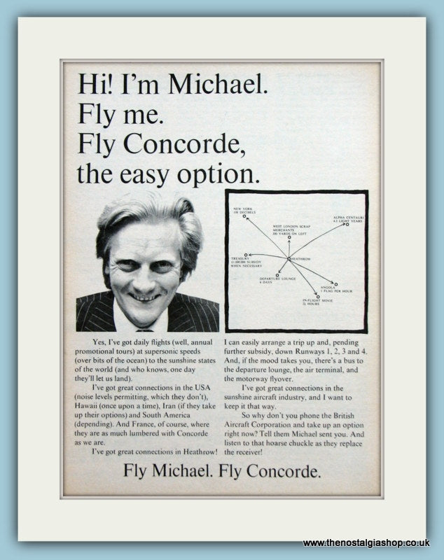 Concorde Original Advert 1973 (ref AD2157)