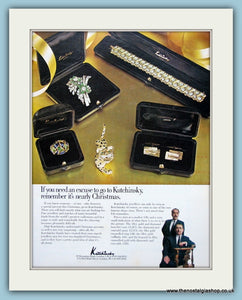 Kutchinsky Jewellery Original Advert 1967 (ref AD6258)