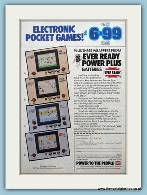 Electronic Pocket Game And Ever Ready Batteries Original Advert 1983 (ref AD6435)