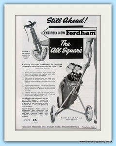 Fordham Golf Trolley. Original Advert 1959 (ref AD4962)